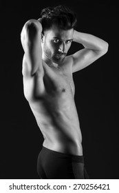 Beautiful and health athletic muscular young man.