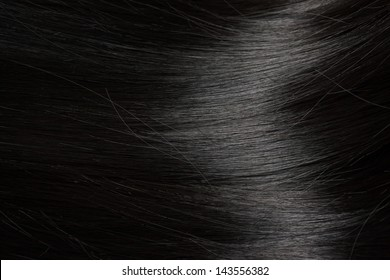 Beautiful healthy black hair - close up