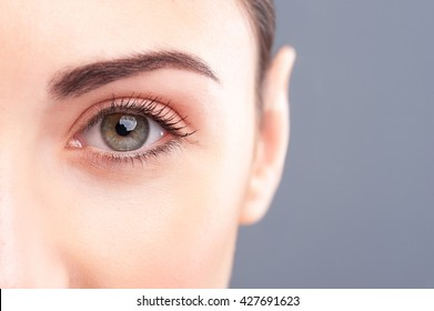 Beautiful healthy girl is staring at something