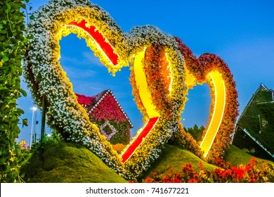 Beautiful Heart made by flowers