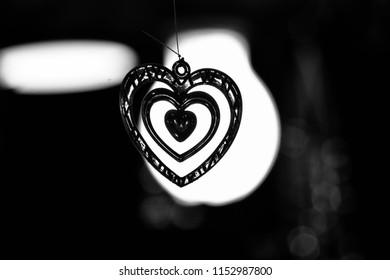 Beautiful heart shape hanging interior showpiece object unique photo