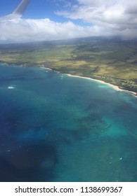 Beautiful helicopter view of the island of Molokai, Hawaii.