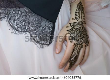 Beautiful Henna Tattoo Design On Women Foto De Stock Editar Ahora