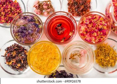 Beautiful herbal tea