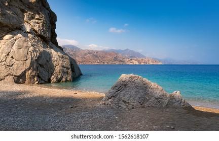 Beautiful hidden beach ,Karpathos island,Greece