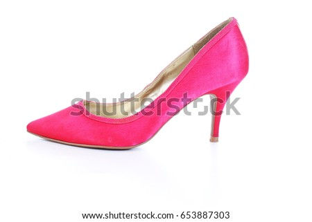 2de59635fac Beautiful high heel shoe on isolated white studio background. Fashion  classic High heels. Pumps