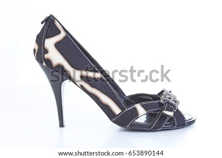 5c5c55d3850 Fashion classic High heels. Pumps peep toe shoes in classic design. Sexy  elegant stylish shoes. Animal pattern printed shoe. - Image