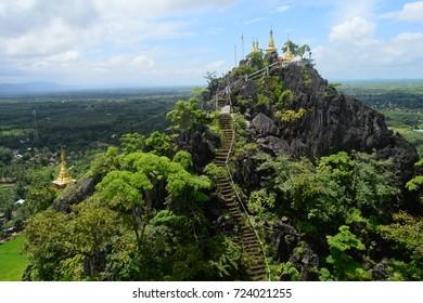 BEAUTIFUL HIGH LYING KYSAUK TALON PAGODA NEAR MAWLAMYINE, MON STATE, MYANMAR