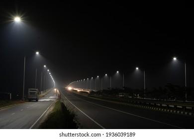 Beautiful highway express road in Bangladesh