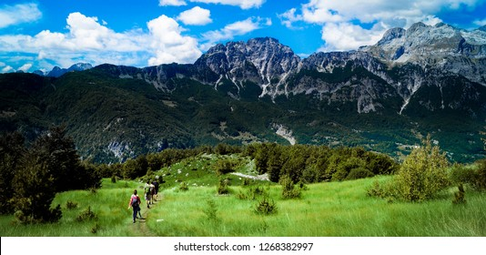 Beautiful hike between the remote villages of Theth and Valbona, in the backlands of Shkoder, Albania.