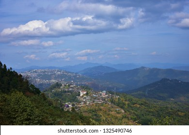 """""""Beautiful hill town of Nagaland surrounding with hill ranges, Kohima, North east India"""""""