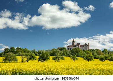 Beautiful hillscape at castle Ronneburg, Wetterau, Hesse, Germany