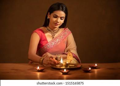 1000 Diwali Girl Stock Images Photos Vectors Shutterstock
