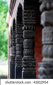 beautiful hindu temple columns