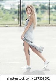 beautiful hipster girl