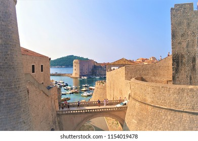 Beautiful historic center of Dubrovnik in Croatia-Europe, famous historic destination
