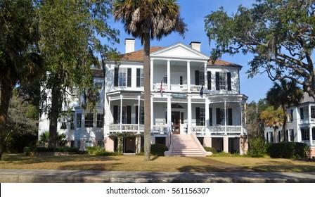Beautiful, historic Cuthbert House in Beaufort South Carolina