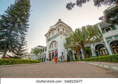 Beautiful, historic railway station built be Portuguese in Maputo, Mozambique