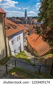 Beautiful historical district in the town of Trebic.