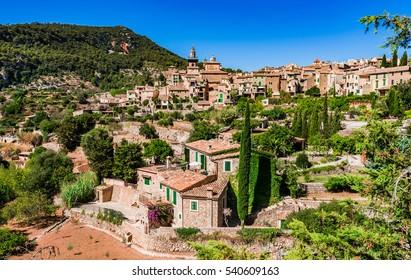 Beautiful historical old village Valldemossa at Majorca island, Spain.