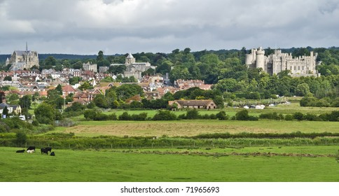 Beautiful historical town of Arundel in West Sussex, Great  Britain