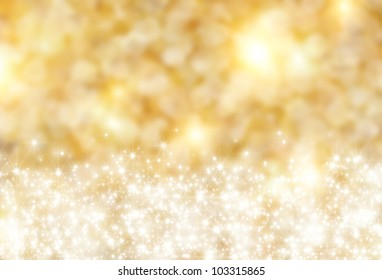 the beautiful holiday abstract gold  background  with  shining sparklets