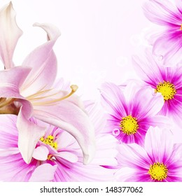 Beautiful holiday flower card