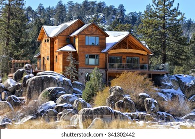 Beautiful homes and estates in the Big Bear Lake City, CA.