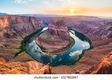 beautiful horseshoe bend at sunset,Page,Arizona,usa.