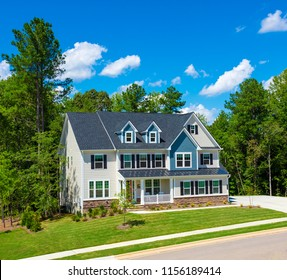 A beautiful house colonial American style