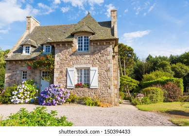 Beautiful house in french brittany typical.