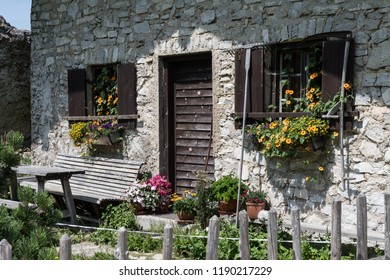 Beautiful house on Kampenwand in Bavaria Alps in Summer