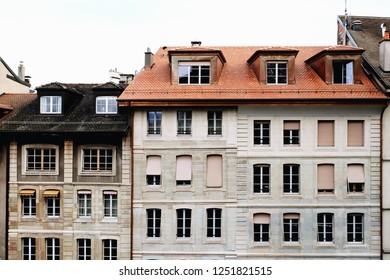 Beautiful houses in Geneva, Switzerland