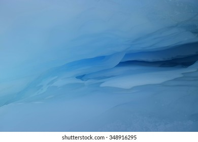 beautiful ice caves with blue reflective light,Antarctica ice