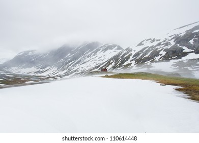 Beautiful ice landscape of Norway. Europa. Scandinavia