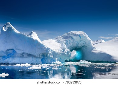 A beautiful Iceberg  in Pleneau Bay, Port Charcot, Antarctica