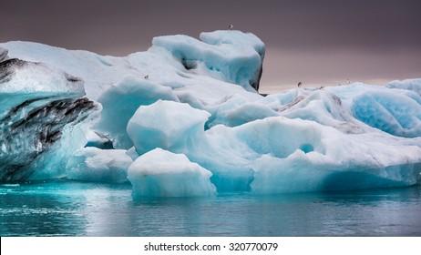 Beautiful icebergs in Iceland