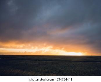 Beautiful Iceland Sunset