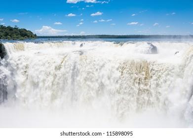 Beautiful Iguazu falls, View from Argentinian side