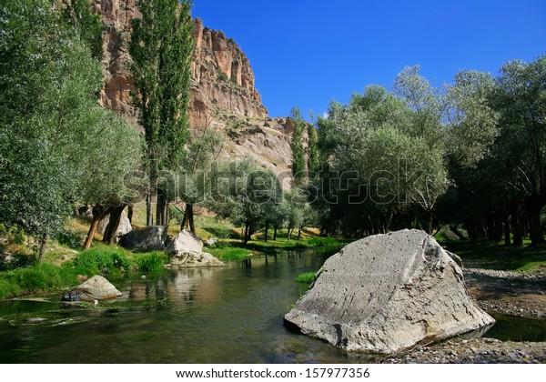 Beautiful Ihlara valley in Cappadocia, Turkey