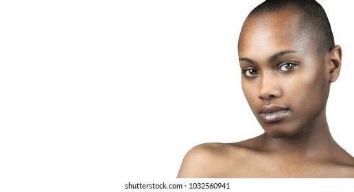 Beautiful Image of a afro american Woman isolated on white