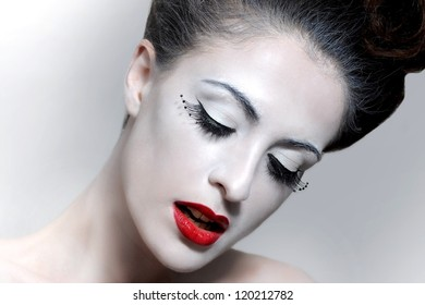 Beautiful Image Of a Glamour Model. Gothic