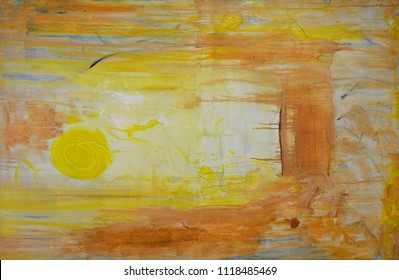 Beautiful Image of Original Abstract oil painting on canvas