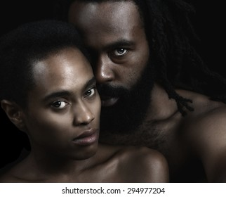 Beautiful Image of two Lovers on Black