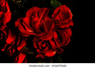 Beautiful imitation Flowers, Red roses for decoration