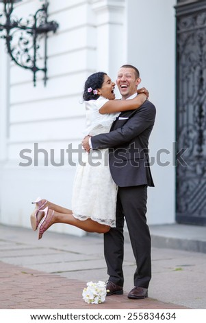 Beautiful Indian Bride Caucasian Groom After Stock Photo Edit Now