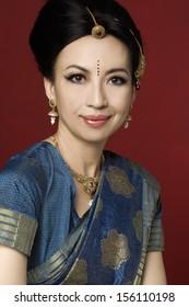 Beautiful indian brunette portrait