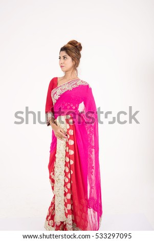 2ecf693470 Beautiful Indian Girl Traditional Dress On Stock Photo (Edit Now ...