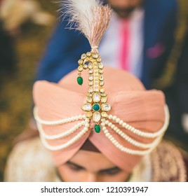 Beautiful Indian groom's Turban style Karachi, Pakistan, October 18, 2018