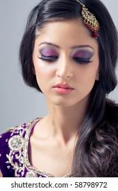 Indian Bride Makeup Images, Stock Photos & Vectors